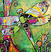 Dragonfly Painting Originals - Dragonfly  by Kim Heil