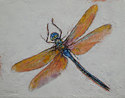Impasto Oil Paintings - Dragonfly by Michael Creese