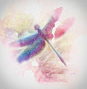 Dragonfly Paintings - Dragonfly by Mo T