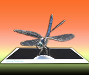The Love Bug Posters - Dragonfly Out of Bounds Poster by Kip Krause