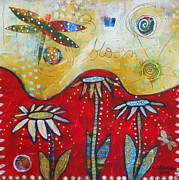 Dragonflies Mixed Media - Dragonfly Song by Shannon Crandall