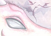Aceo Prints - Dragons Of The Misty Rose Mountains Print by Elaina  Wagner