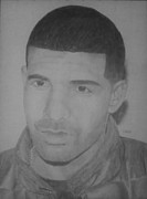 Lil Wayne Drawings Originals - Drake by Milton  Gore