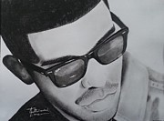 Signed Drawings Prints - Drake portrait Print by Lance  Freeman