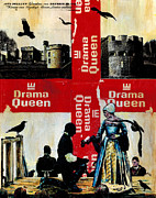 Acrylic On Wood Framed Prints - Drama Queen Framed Print by Paul Banham