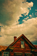 Cabin Window Framed Prints - Dramatic Clouds Over Cabin Framed Print by Jill Battaglia