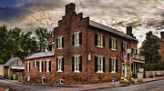 Brick Building Prints - Dramatic Print by Heather Applegate