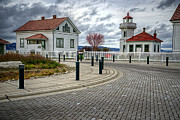 Spencer Mcdonald Framed Prints - Dramatic Mukilteo Lighthouse Framed Print by Spencer McDonald