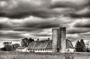 Barn And Silo Prints - Dramatic Skies  Print by JC Findley