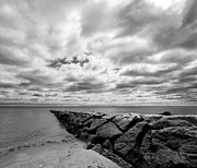 Storm  Light Posters - Dramatic Sky at Penfield Jetty Poster by Stephanie McDowell