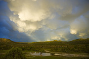 River Flooding Photo Posters - Dramatic Sky Poster by Jerry McElroy