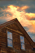 Cabin Window Framed Prints - Dramatic Sky Over Cabin Framed Print by Jill Battaglia