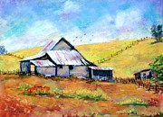 Side Pastels Prints - Drapper Valley Barn Print by Bruce Schrader