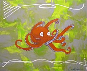 Octopus Mixed Media - Draw Me Closer by Christal Kaple Art
