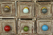 Drawers Prints - Drawer Knobs Print by Bob Phillips