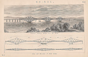 Architecture Drawings Prints - Drawings of Bridges no 5 Print by Anon
