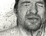 Realism Drawings - Drawn Face VI by Dirk Dzimirsky