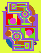 Drawn2abstract135 Print by Maggie Schell