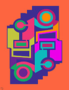 Drawn2abstract456 Print by Maggie Schell