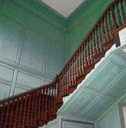 Wooden Stairs Prints - Drayton Hall 17 Print by Ron Kandt