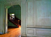 Wooden Stairs Prints - Drayton Hall 5 Print by Ron Kandt
