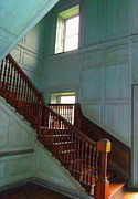 Wooden Stairs Prints - Drayton Hall 6 Print by Ron Kandt