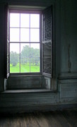 Drayton Hall Prints - Drayton Interior Window 3 Print by Randall Weidner