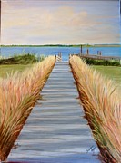 Pathway Paintings - Dream Backyard by Susan Dyson