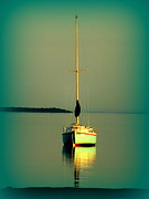 Boats On Water Photo Posters - Dream Bay Poster by Karen Wiles
