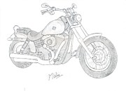 Etc. Drawings Posters - Dream Bike Poster by Mahalakshmi P