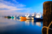 Fishing Art Cards Prints - Dream Boats - Outer Banks Print by Dan Carmichael