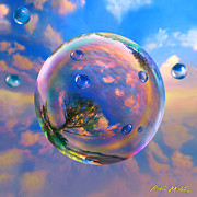 Round Digital Art Prints - Dream Bubble Print by Robin Moline