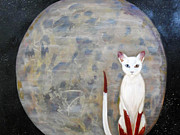 Galaxies Originals - Dream Cat by Beverly Strickler