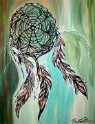 Catcher Painting Framed Prints - Dream Catcher Framed Print by Brittney McClellan