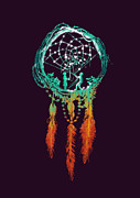 Indian Art Prints - Dream Catcher Print by Budi Satria Kwan