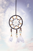 Indian Feather Posters - Dream Catcher Poster by Christopher and Amanda Elwell