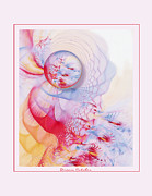 Abstract Digital Pastels Prints - Dream Catcher Print by Gayle Odsather