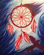 Dream Catcher Paintings - Dream Catcher by Jessica Bassett