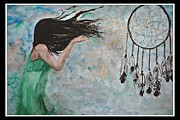 Dream Catcher Paintings - Dream Catcher by Linda Waidelich