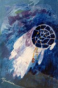 Dream Catcher Paintings - Dream Catcher by Marilyn Jacobson