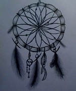 Catcher Drawings - Dream Catcher by Olivia Buddington
