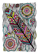 Navajo Prints - Dream Feather Print by Susan Claire