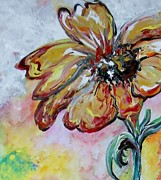 Sparkling Mixed Media Framed Prints - Dream Flower that Suits my Fancy Framed Print by Eloise Schneider