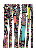 Navajo Prints - Dream Forest Print by Susan Claire