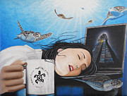 Mayan Paintings - Dream Girl by Angel Ortiz