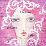 Blue Eyed Girl Prints - Dream Girl Print by Joann Loftus