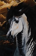 Spanish Horses Paintings - Dream Horse Series - 001 by Cheryl Poland