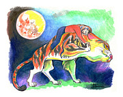 Tiger Dream Prints - Dream Print by Ilana Tavshunsky