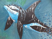 Killer Whale Paintings - Dream Killer Whale by Freya Ellingham