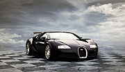 Bugatti Veyron Posters - Dream Machine Poster by Peter Chilelli